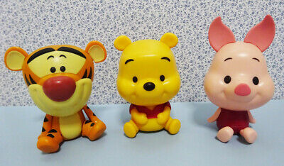 Bandai Disney Friends Figure Capchara Gashapon 3 Winnie the Pooh Piglet 3 pcs