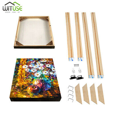 Canvas Stretcher Bars Frames Wooden Strips Kits for Oil Painting Art Gallery DIY