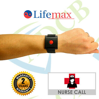 Wireless Nurse Call Watch Wrist System Panic Button Alert System Easy Install