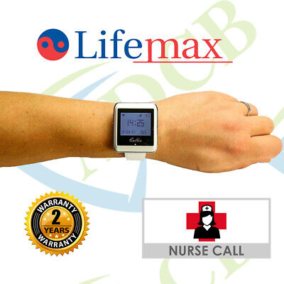 Wireless Nurse Call Watch Receiver System Panic Button Alert System Easy Install