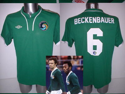 New York Cosmos Beckenbauer Pele Shirt Jersey BNWT M L XL Umbro Football Soccer