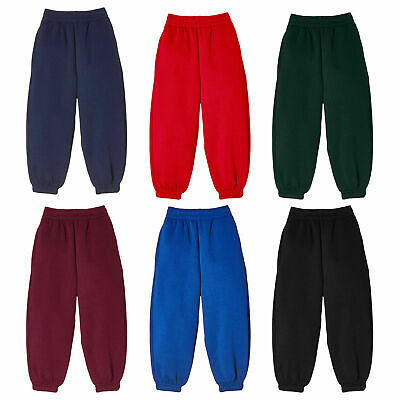 Boys Girls Children Sports Jogging Pants Fleece Joggers Kids Bottom Age 2-13 Yrs