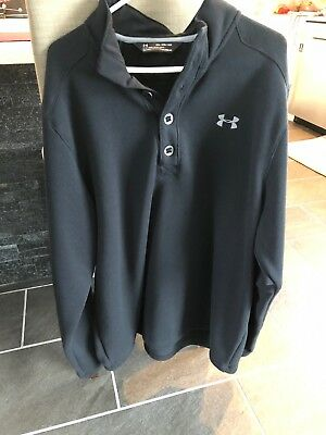 80 Under Armour Specialist Storm Sweater Fleece Authentic Black