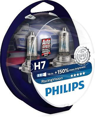 8Kit Lampade Philips H7 Racing Vision +150% di Luminosità 12 V 55 W - 12972RVS2