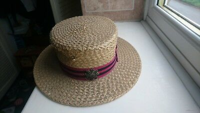 Vintage straw boater School Hat