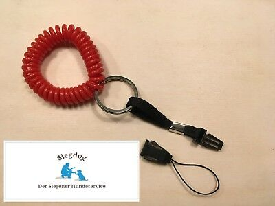 Clicker-Spiral-Armband Plus - rot