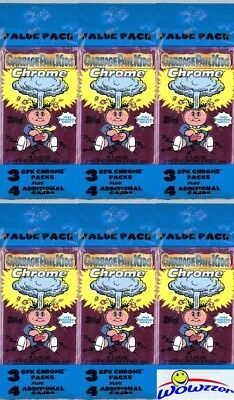 (6) 2013 Topps Chrome Garbage Pail Kids EXCLUSIVE Value Rack Packs-90 Cards!