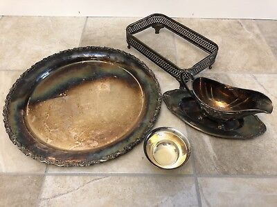 Mixed Lot 4 pieces Silverplate, Reed and Barton, Community Chatelaine, Webster W