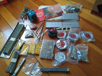 Vintage Gilbert S Erector Set Parts Assorted Rods Crank Spring