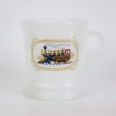 Vintage Train Mug / Shaving Mug, Avon Milk Glass, Iron Horse, Locomotive
