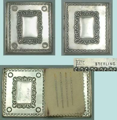Antique American Sterling Silver Needle Book By Foster & Bailey * Circa 1900