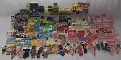 262PC Vintage Miniature Dollhouse LOT Furniture Kitchen Doll Germany Italy