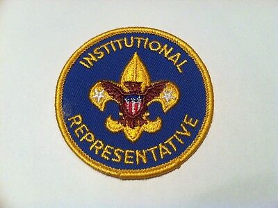 BSA Boy Scout Insignia Vintage Twill Institutional Representative Patch
