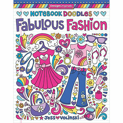Design Originals Fabulous Fashion 5551 Notebook Doodles Coloring Book Volinski