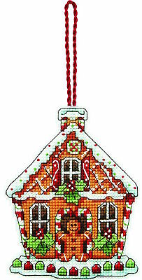 LOT 2 Counted Cross Stitch Kits GINGERBREAD HOUSE~SLEIGH  ORNAMENTS Susan Winget