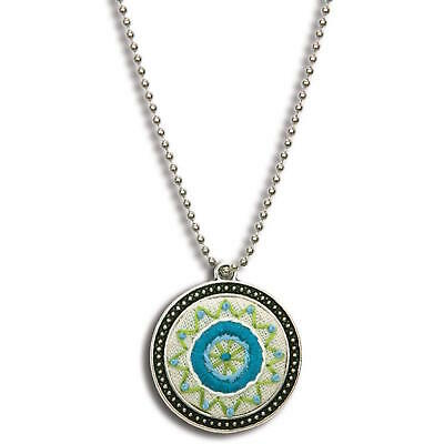 Dimensions 74074 Metal Bezel Jewelry Embroidery Kit Blue Circle Pattern