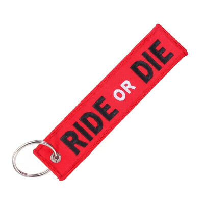 Llavero RIDE OR DIE REMOVE BEFORE FLIGHT Avión A380 777 Boeing Airbus Llave ROJO
