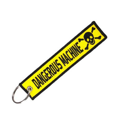 Llavero DANGEROUS MACHINE REMOVE BEFORE FLIGHT Avión Moto Airbus Llaves Coche