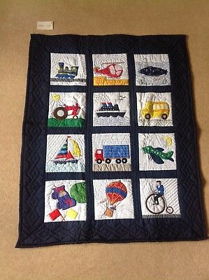 Beautiful New Cot Quilt Oskar & Ellen - Transportation Design