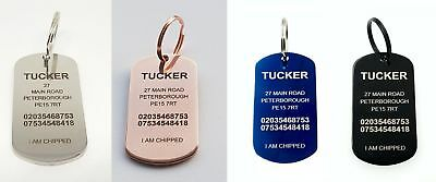 Quality Stainless Steel Dog Tag Engraved Collar Tags Pet ID & Ring with Options