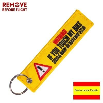Llavero WARNING REMOVE BEFORE FLIGHT Avión A380 777 Boeing Coche Moto Llave