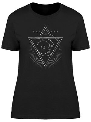 Crescent Moon Face Graphic Women's Tee -Image by Shutterstock
