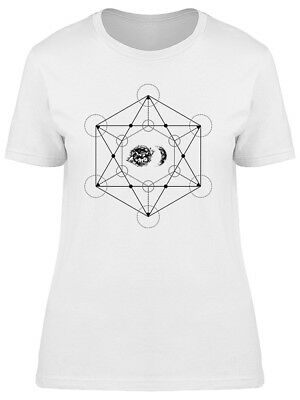 Geometry Sun And Crescent Moon Women's Tee -Image by Shutterstock