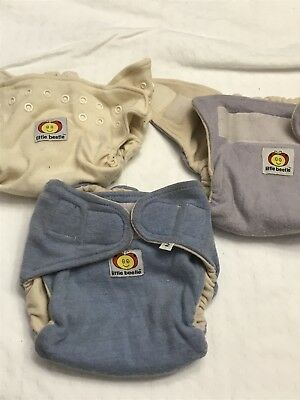 Little Beetle Wool Diaper Cover Soaker Size 2 Lot Of 3 Soakers Outer Organic !!!