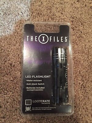 The X-Files LED Flashlight - New and Sealed - Water Resistant Loot Crate Mini