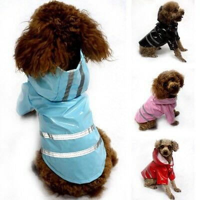 Dog Raincoat Pet Waterproof Jacket Cat Puppy Outdoor Clothes Hooded Rainwear New