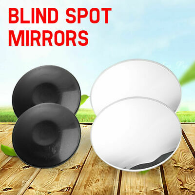 Pair Blind Spot Mirrors Rimless Mirror HD Glass Rear View Wide Angle Adjustable