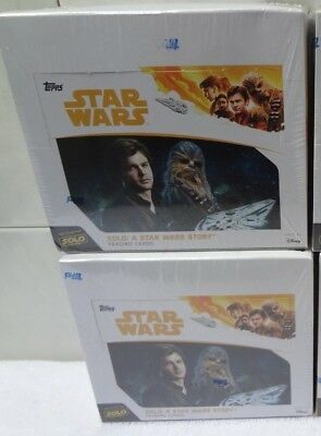 2018 Topps Solo: A Star Wars Story 24ct Factory Sealed Box Lot of 2  - 288 Cards