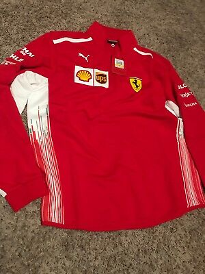 e5315568c53b PUMA SCUDERIA FERRARI Men s Team Half Zip Fleece Men Sweat Auto New ...