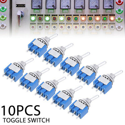 10PCS AC 125V 3A Mini Micro SPDT On/On 2 Position Miniature Toggle Switches Kits