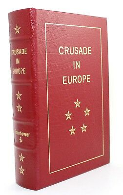 Crusade in Europe Dwight D Eisenhower Easton Press Leather Bound WWII History