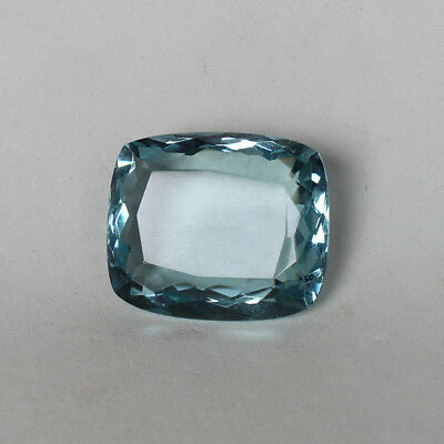 55.30 Ct. Natural Aquamarine Greenish Blue Color Cushion Cut Loose Gemstone