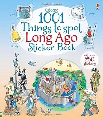 Usborne 1001 Things To Spot Long Ago Sticker Book Over 200 Stickers Ages 7+ Yrs
