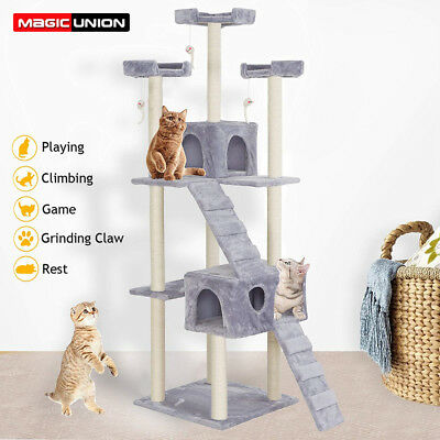Multi-Level Cat Tree with Scratching Post Activity Center Cat Tower Furniture
