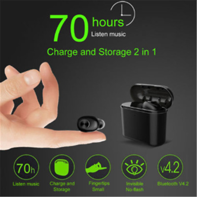 Bluetooth 4.2 Stereo Earbuds Charging  Headset Wireless HIFI Mini True Headphone