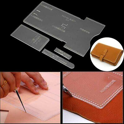 Acrylic Clear Template Set Pattern Tool Wallet Messager Bag Leather Craft DIY US