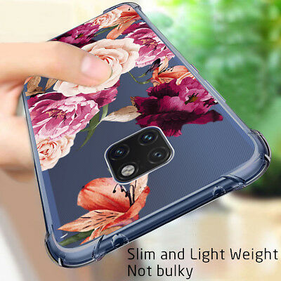 Huawei Mate 20 Lite Mate 20 Pro Flower Case Shockproof Rubber TPU Silicone Cover