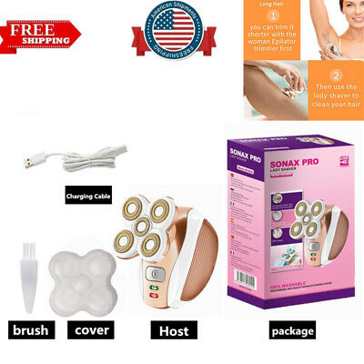 Women Legs Hair Removal Rechargeable Painless Cordless Epilator Unisex Device