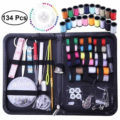 134pcs Mini Beginner Sewing Kit Case Supplies Adults Kids Home Travel Campers US