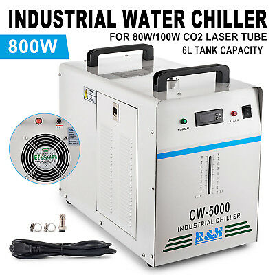 110V 60Hz CW-5000 INDUSTRIAL WATER CHILLER 80W/100W CO2 GLASS LASER ENGRAVING