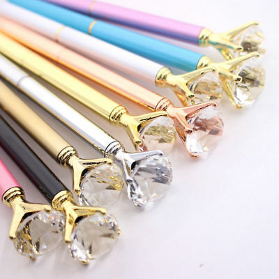 POP!Bling Diamond On the Top Quality Scepter Crystal Ballpoint Pen students Gift