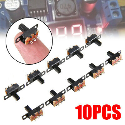 10Pcs SPDT ON-Off Miniature Slide Switch Electronic Component DIY Power TOP
