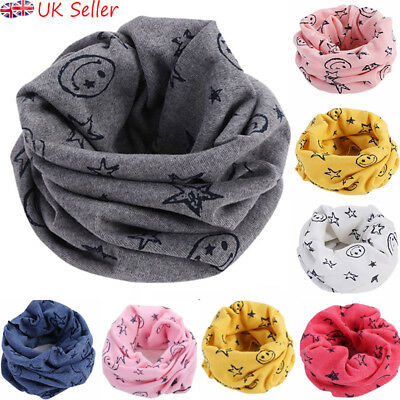 Kids Baby Girls Boys Children Warm Cotton Snood Scarf Scarves Winter Neckerchief