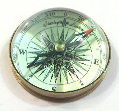 Antique Maritime Brass Lens 3'' Vintage Nautical Table Decorative Compass