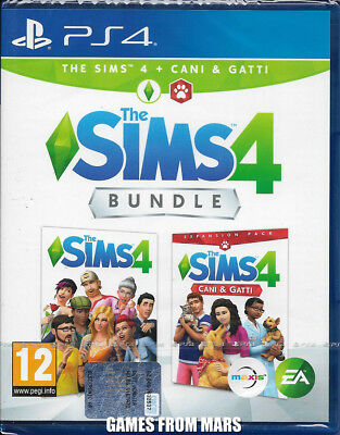 The Sims 4 + Cani E Gatti Bundle Ps4 Nuovo Italiano