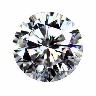 Loose Moissanite Gemstones Round Brilliant Cut, Hearts & Arrows, VVS1